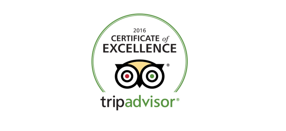 HEART OF THE VILLAGE INN EARNS 2016 TRIPADVISOR CERTIFICATE OF EXCELLENCE