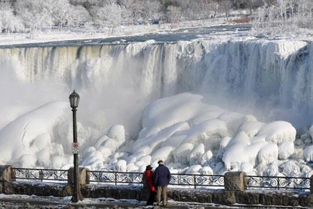 Wow, Polar Vortex Bekukan Air Terjun Niagara