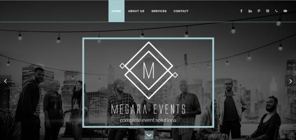 Okhela's web design and development for Megara Events