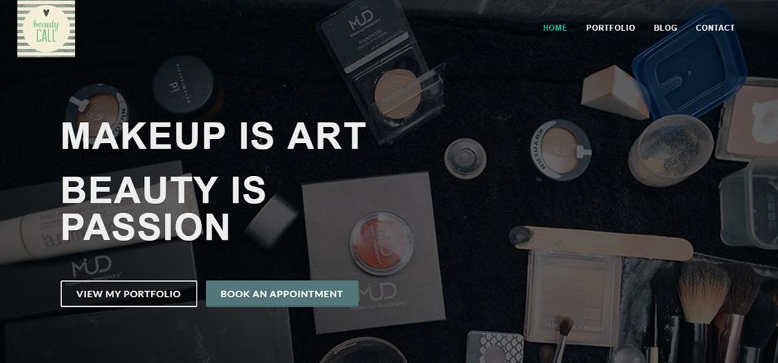 Web design and development for Beautycall Durban
