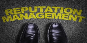 Top View of Business Shoes on the floor with the text: Reputation Management