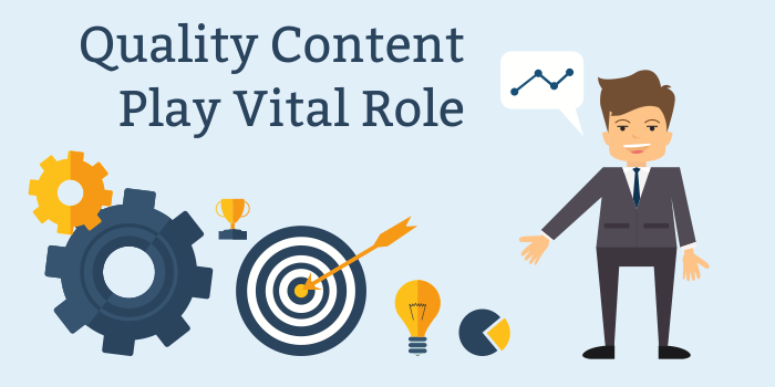 Quality Content play vital role