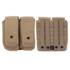 MOLLE AR15/AK Double 30 rd Mag Pouch Tan