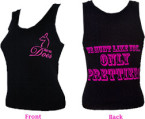 "Ladies ""We Hunt Like You Only Prettier"" Black Tank Top Large"