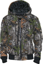 Youth Insulated Fleece Hooded Jacket Realtree Xtra Medium