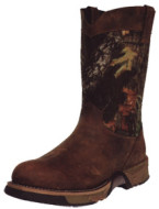 "Aztec Wellington 10"""" Boot Mossy Oak Breakup Size 9"