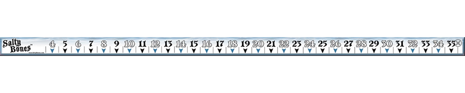 Fish ruler sticker kamos sticker for Fish measuring tape