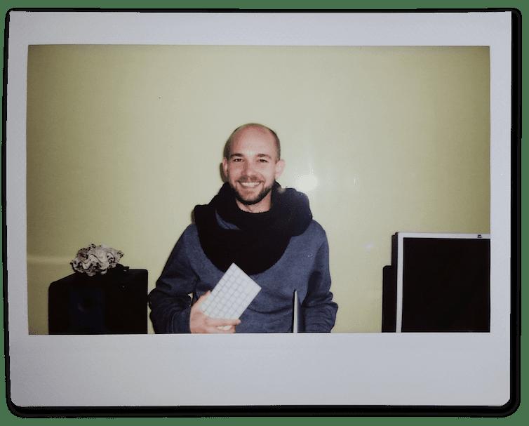 Polaroid Foto von Joel