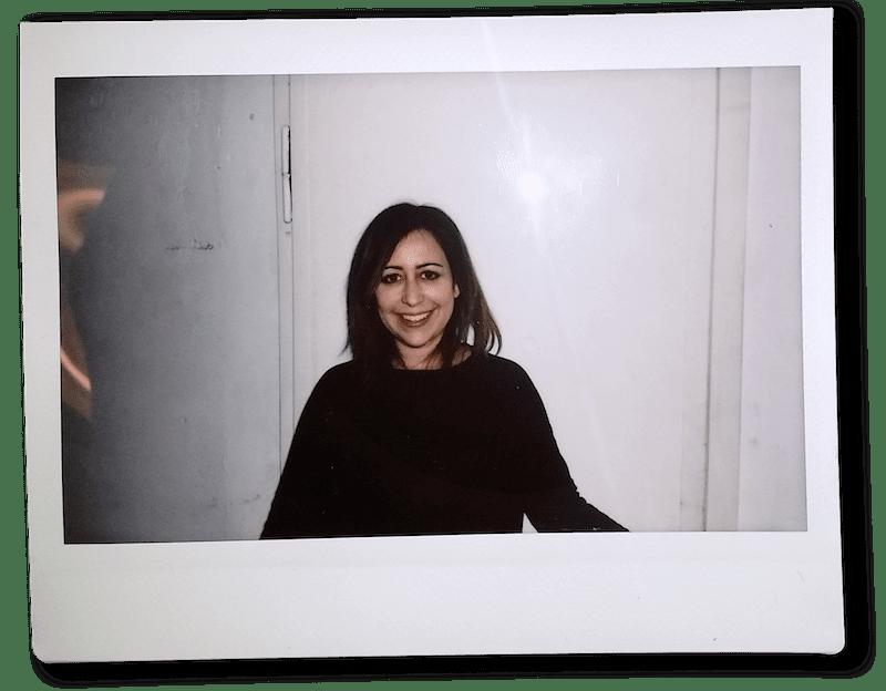 Polaroid Foto von Nadia