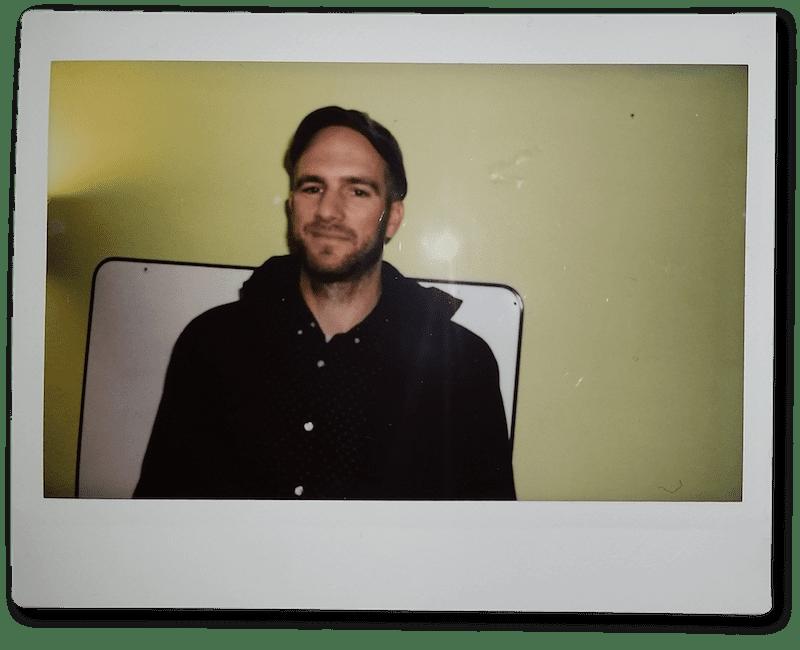 Polaroid Foto von Patrick