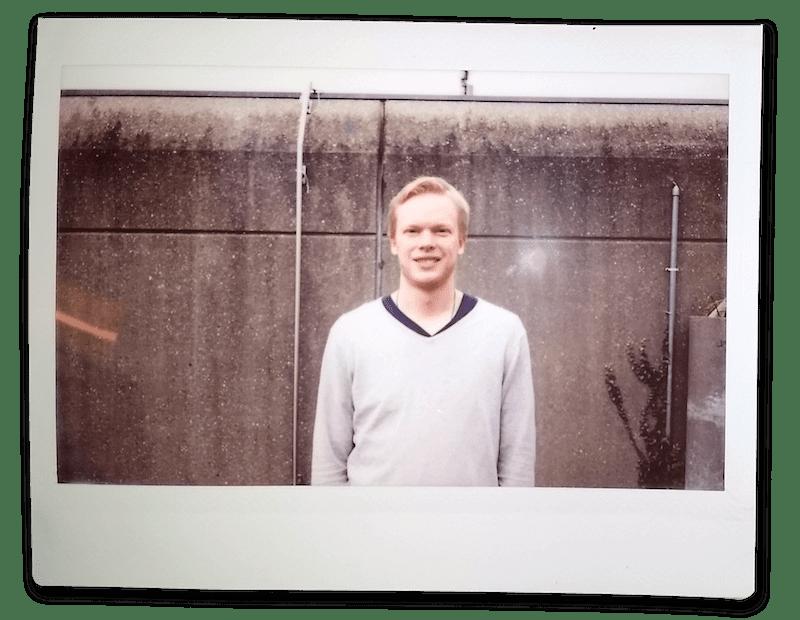 Polaroid Foto von Tobias