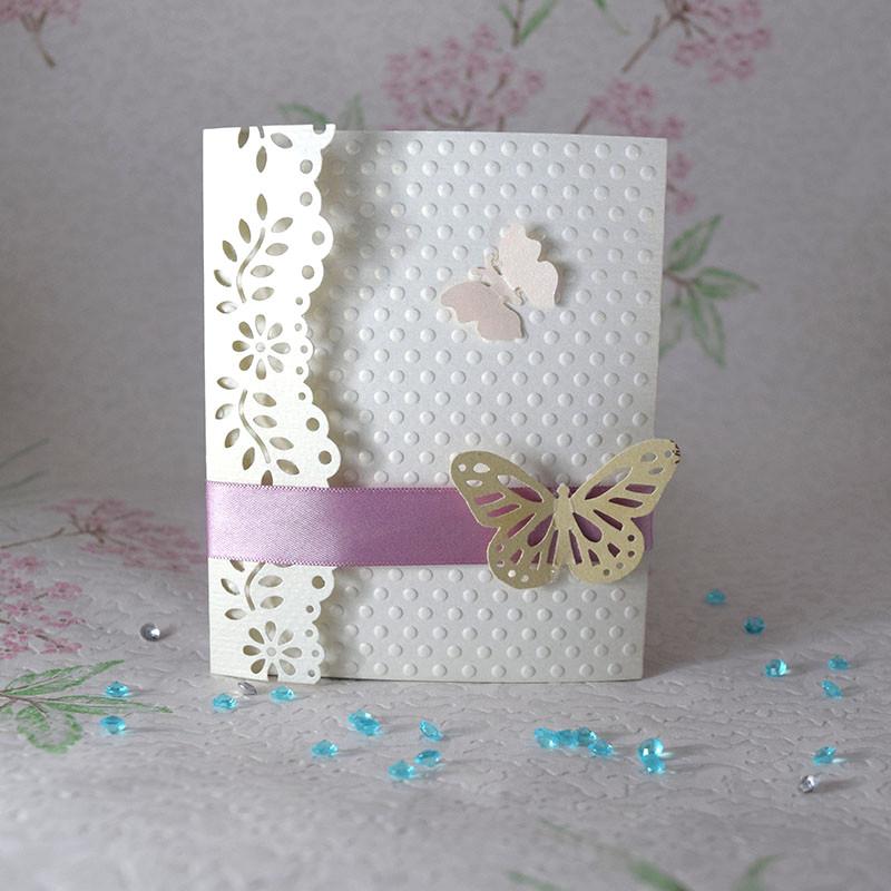 invitaciones para bautizo con mariposas de niña