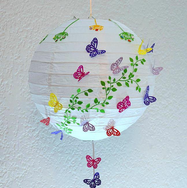 decoración para fiestas con mariposas, bodas, bautizos, baby shower, esferas chinas