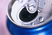 Soda can top