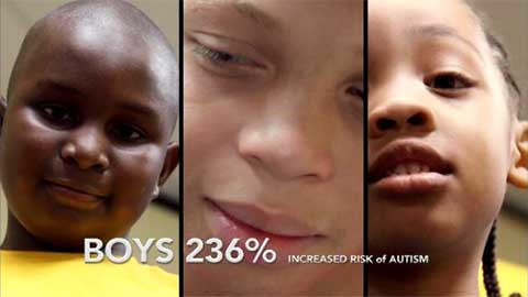 CDC data indicated a 236% increased risk of autism for African American boys