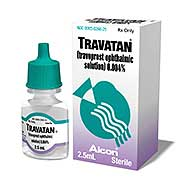 Travatan bottle and package