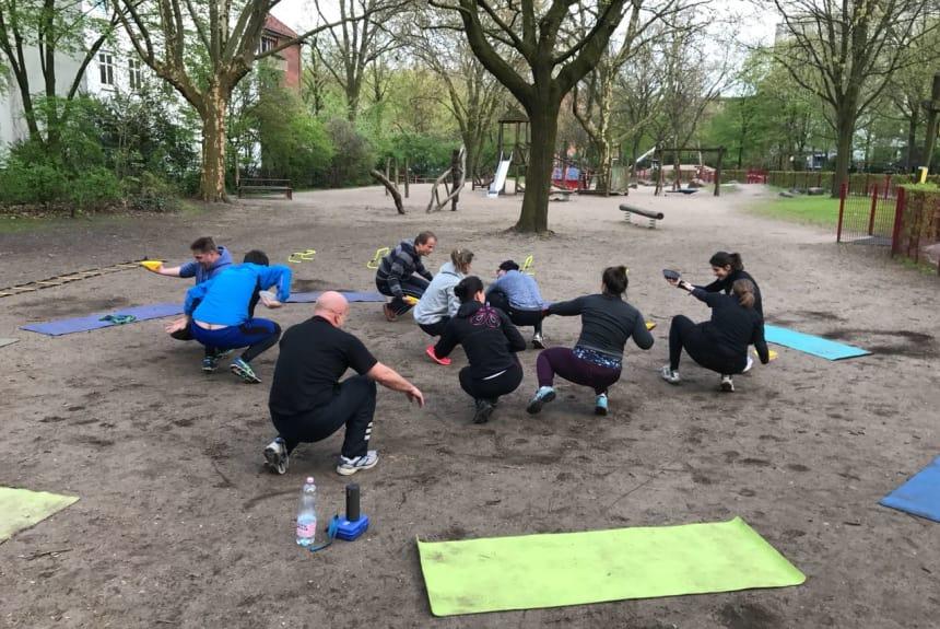 Spass und Spiele beim Training
