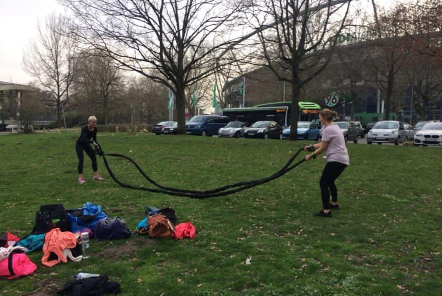 Spass beim Training mit den wilden Seilen