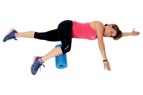 Blackroll Übungen für die Unterschenkel Außenseite