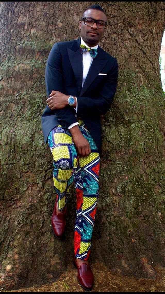 Ankara Trouser and Bow tie