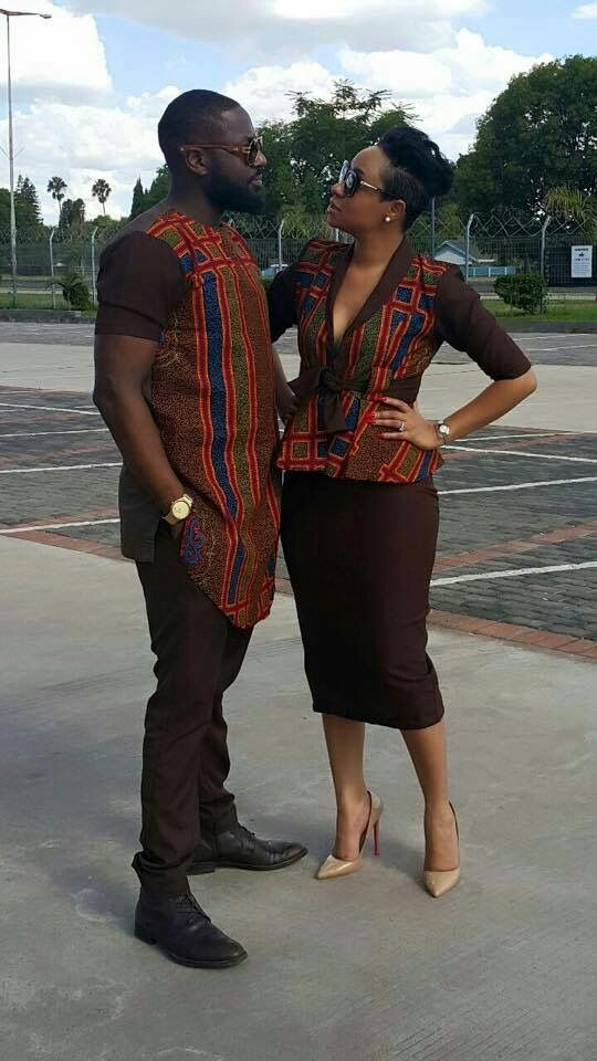 Ankara and Plain Native , Skirt and Blouse