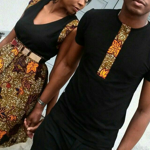Ankara and Plain Shirt , Skirt and Top