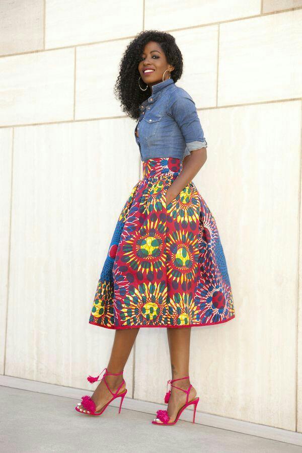 Ankara Midi Skirt