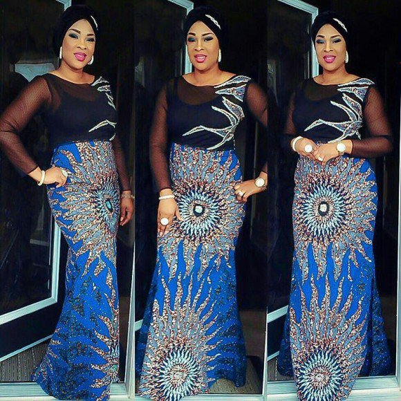 Ankara and Net Dress