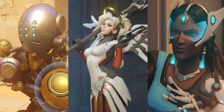 Symmetra, Zenyatta and Mercy is great for defense