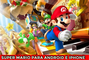 super-mario-run aplicativo para ios e android jogos e game play personagens Super Mario Bros