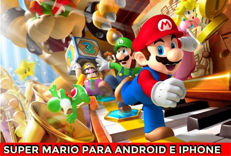 super-mario-run aplicativo para ios e android jogos e game play personagens Super Mario Bros