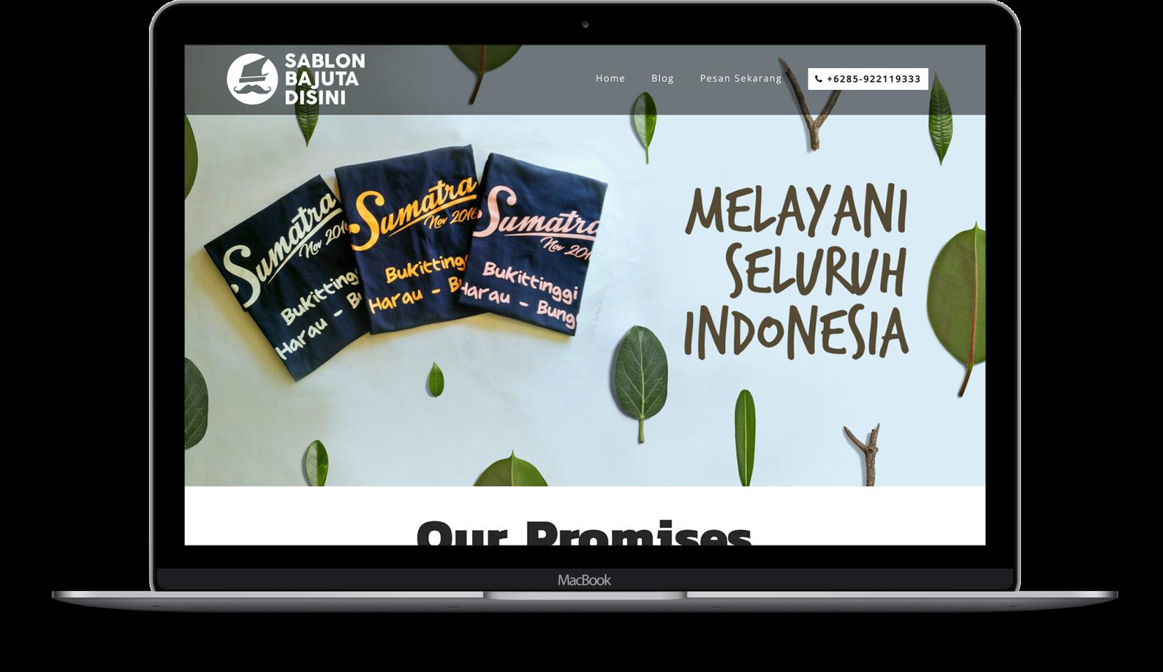 Website sablonbajumakassar.com designed by ozycozy.com