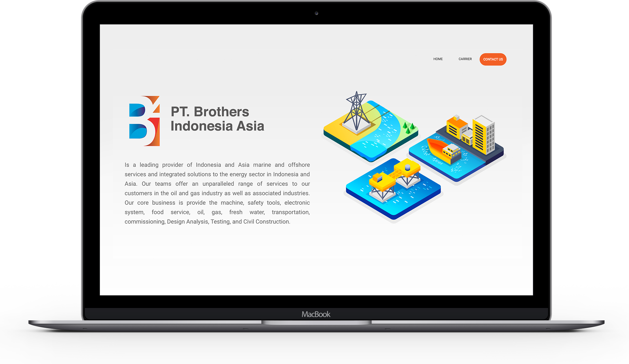 Website PT. Brothers Indonesia Asia designed by ozycozy.com