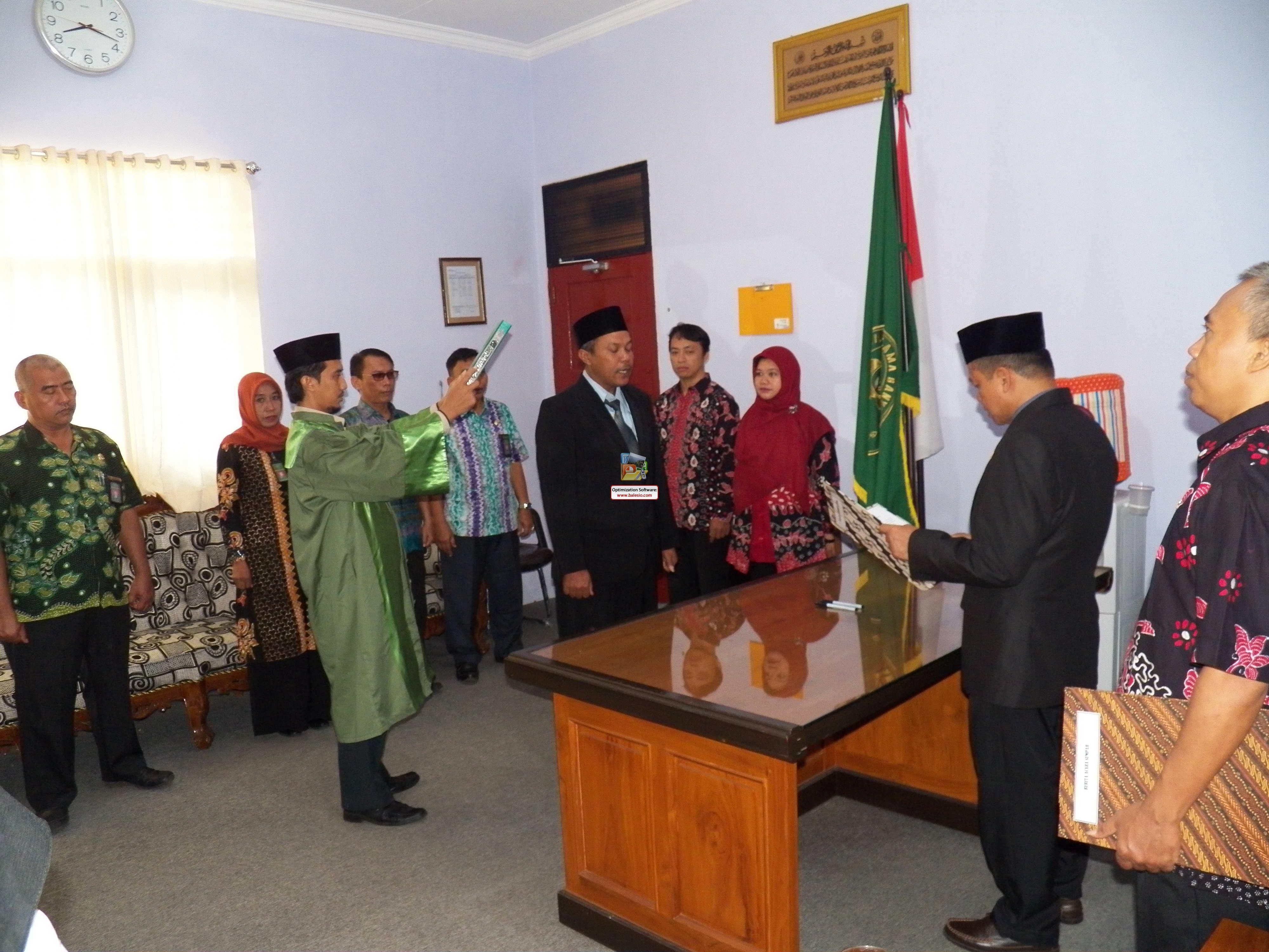Pelantikan dan Sumpah Jabatan Jurusita Pengganti Pengadilan Agama Banyuwangi