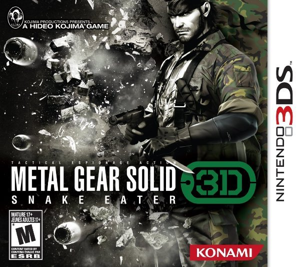 MGS:SE 3DS Box Art