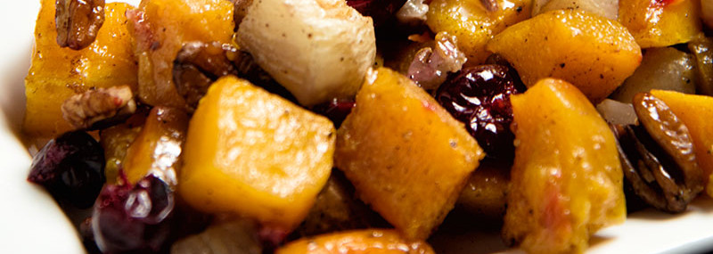 Roasted Butternut Squash And Turnips