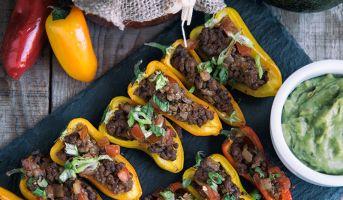 Bell Pepper Nacho Bites