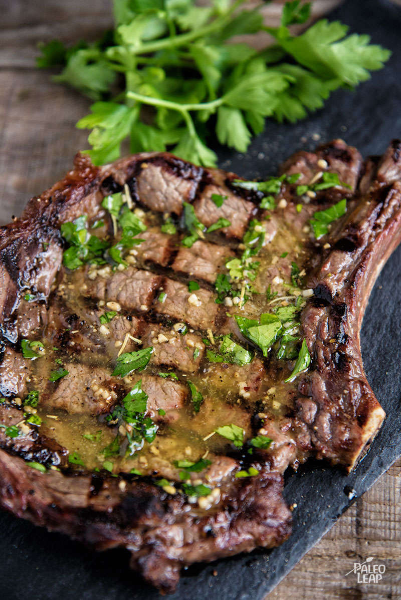 Grilled Steaks With Herb Butter