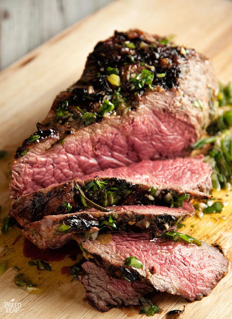 Beef Sirloin With Fresh Herbs Marinade