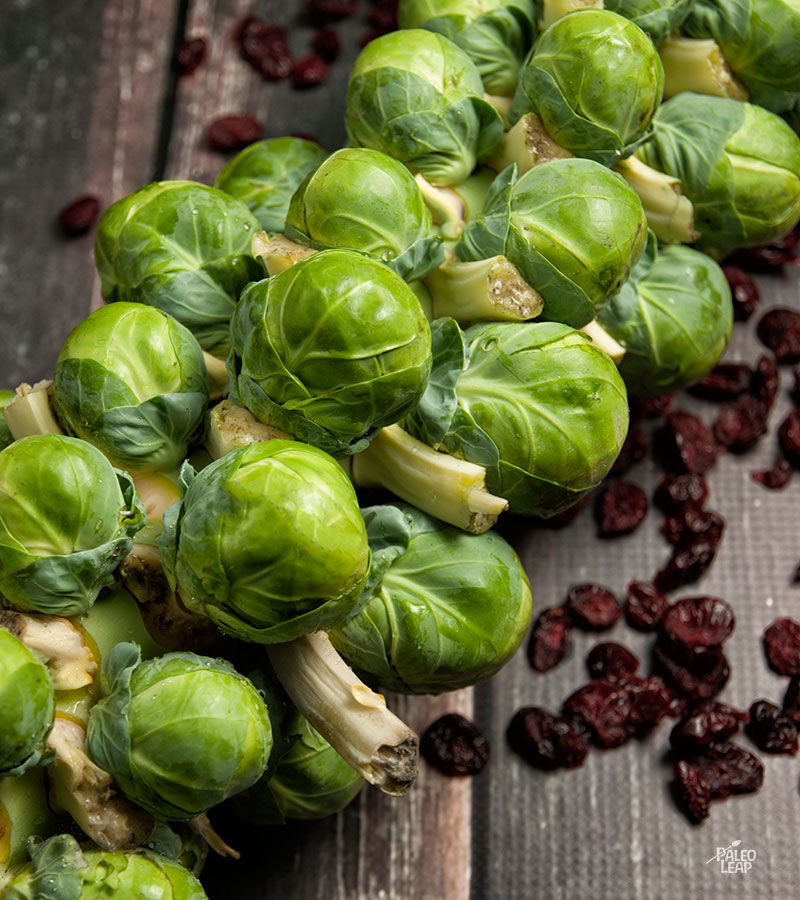 Brussels Sprouts With Balsamic and Cranberries | Paleo Leap