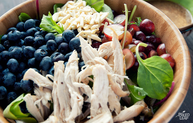 Chicken Salad With Almond Dressing | Paleo Leap