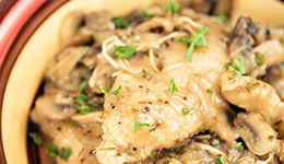 Chicken with Onion-Mustard Sauce