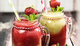 Strawberry-Kiwi Mojito Smoothie