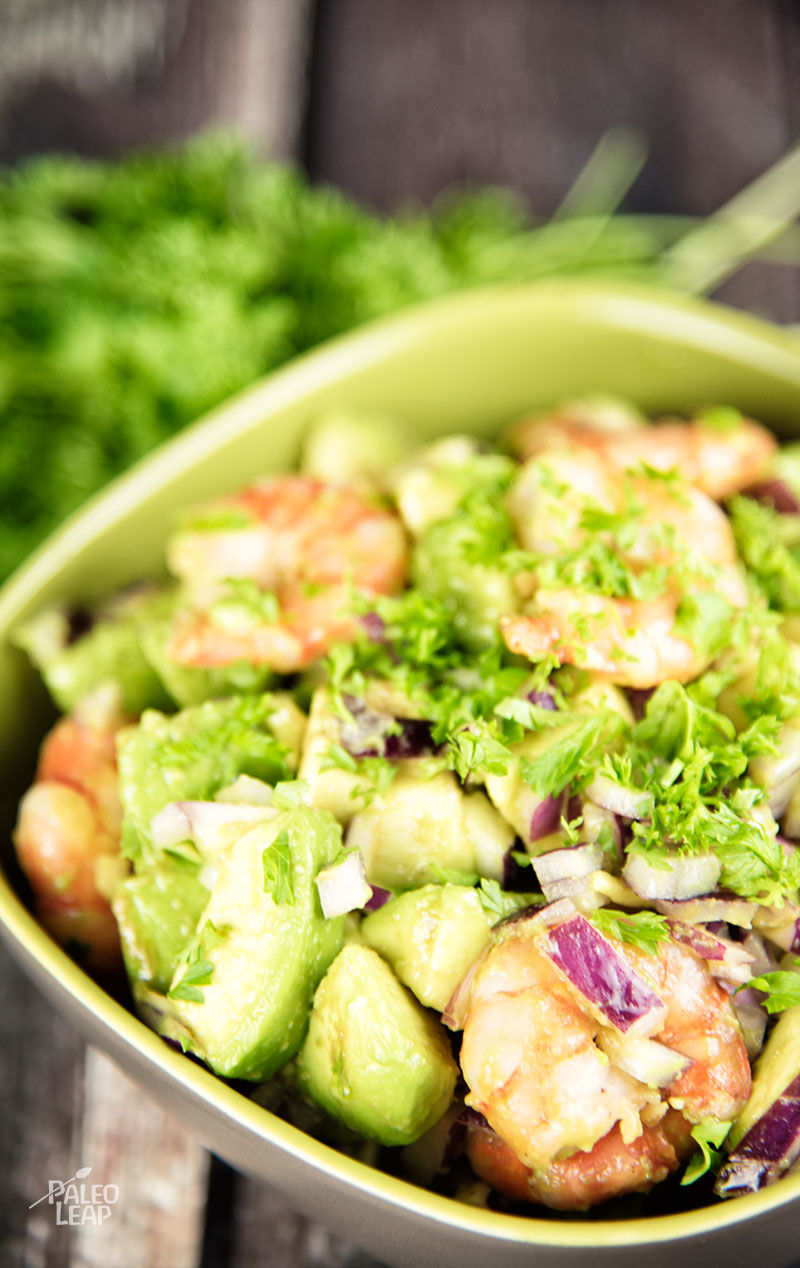 Shrimp And Avocado Salad | Paleo Leap