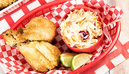 Fried Chicken With Spicy Cumin Coleslaw