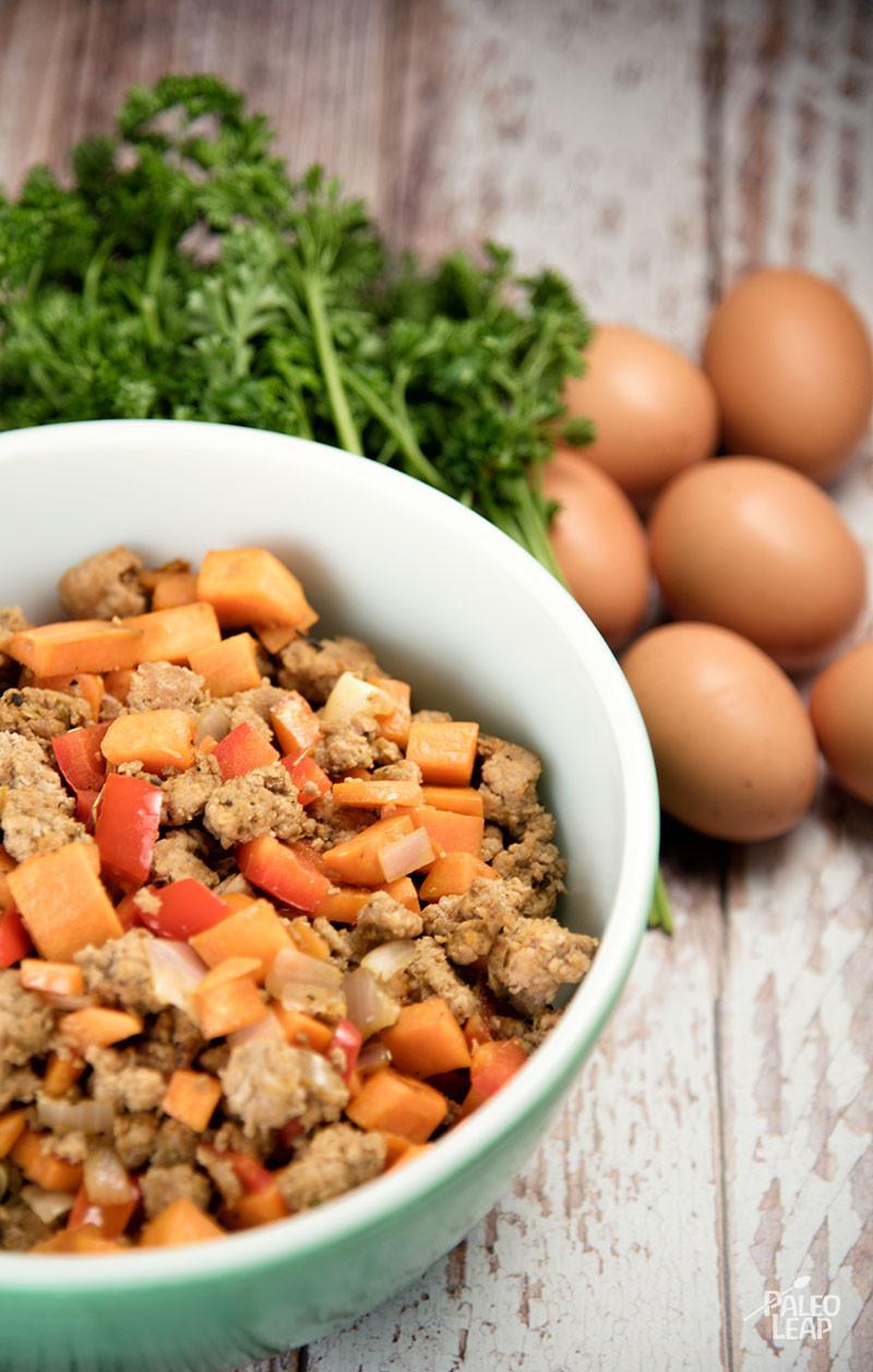 Breakfast Casserole preparation