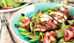 Blackened Chicken With Strawberry Salad
