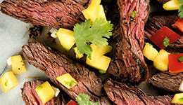 Skirt Steaks With Fresh Mango Salsa