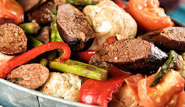 Sausage With Grilled Vegetables