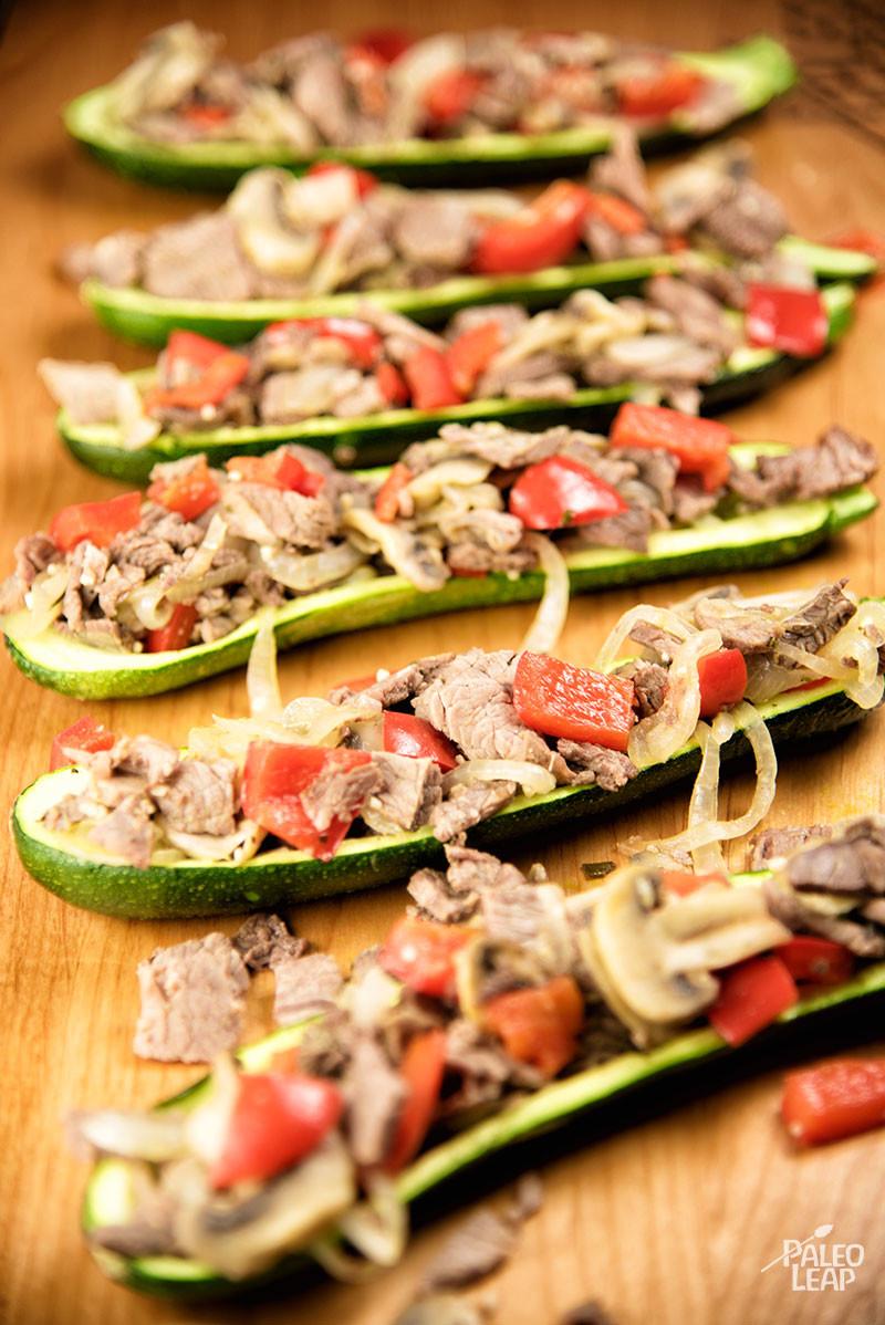 Steak Zucchini Boats
